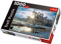 2000 Piece Puzzle Dawn At Lake