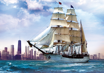 Trefl Sailing Towards Chicago 500 Piece Jigsaw Puzzle NX74685