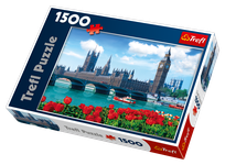 Trefl Parliament and Westminster Bridge, London, England 1500 Piece Jigsaw Puzzle