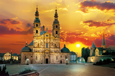 1500 Piece Puzzle Fulda Cathedral and St. Michael Church Hesse Germany AL06447
